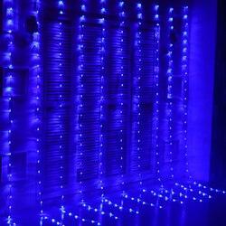 6 متر x 3 متر 640 لمبات LED الأمطار أضواء عيد الميلاد شلال الستار أضواء في الهواء الطلق الطوق أضواء الديكور لحفل الزفاف عطلة