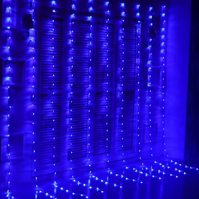 2850b35ec11 6 m x 3 m 640 bombillas LED lluvia luces de Navidad luces de la cortina  cascada