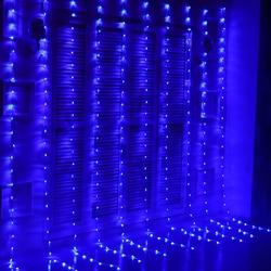 6M x 3M 640 Bulbs LED Rainfall Lights Christmas Waterfall Curtain Lights Outdoor Garland Lights Decoration For Wedding Holiday