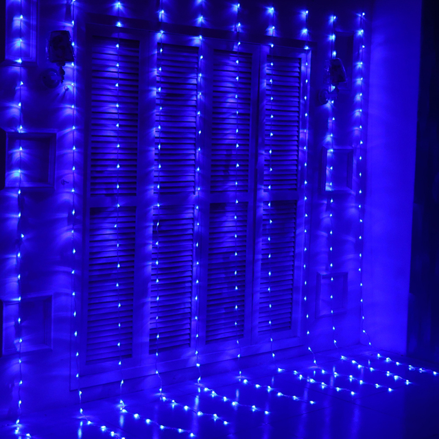 6m X 3m 640 Bulbs Led Rainfall Lights Christmas Waterfall Curtain Outdoor Garland Decoration For Wedding Holiday