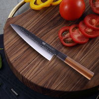japanese chef knife 8inch professional 9CR18mov stainless steel kitchen knives with Octagonal wood handle
