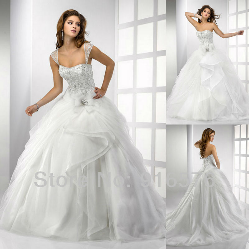 Luxuriant Wedding Dress Bow Ball Gown Charming Sweetheart