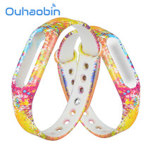 Ouhaobin Camouflage Pattern Strap WristBand Bracelet Replacement For Xiaomi MI Band 1S Oct 1 Dropshi