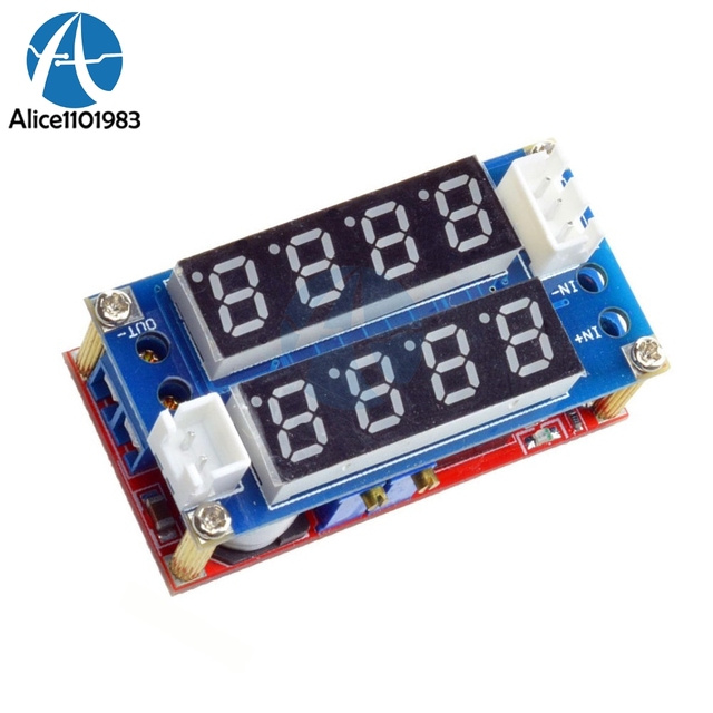 Max 5A Adjustable CC CV Step Down Receiver Charge Module Digital Voltmeter Ammeter Display LED Driver for Arduino Non-isolated