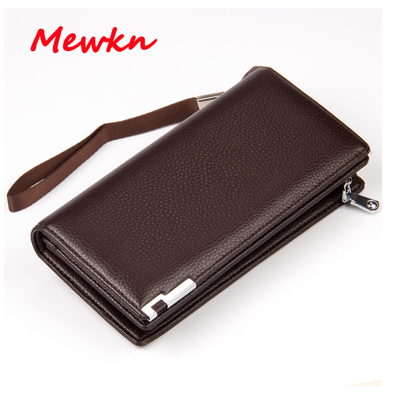 цена на Brand Men Wallet Men's Zipper Purse Clutch Long Wallets Male Leather Card Holder Purses high quality Business Male Wallets Coin