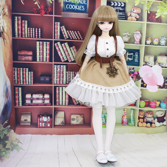 Fortune Days for 1/4 BJD Doll 45cm Highly brown fashion girl in four piece dress Set High Quality Blyth reborn girls Toy Gifts 1