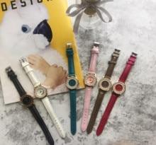 лучшая цена Ms classic quartz intellectual white-collar simple generous luxury leather fine watch