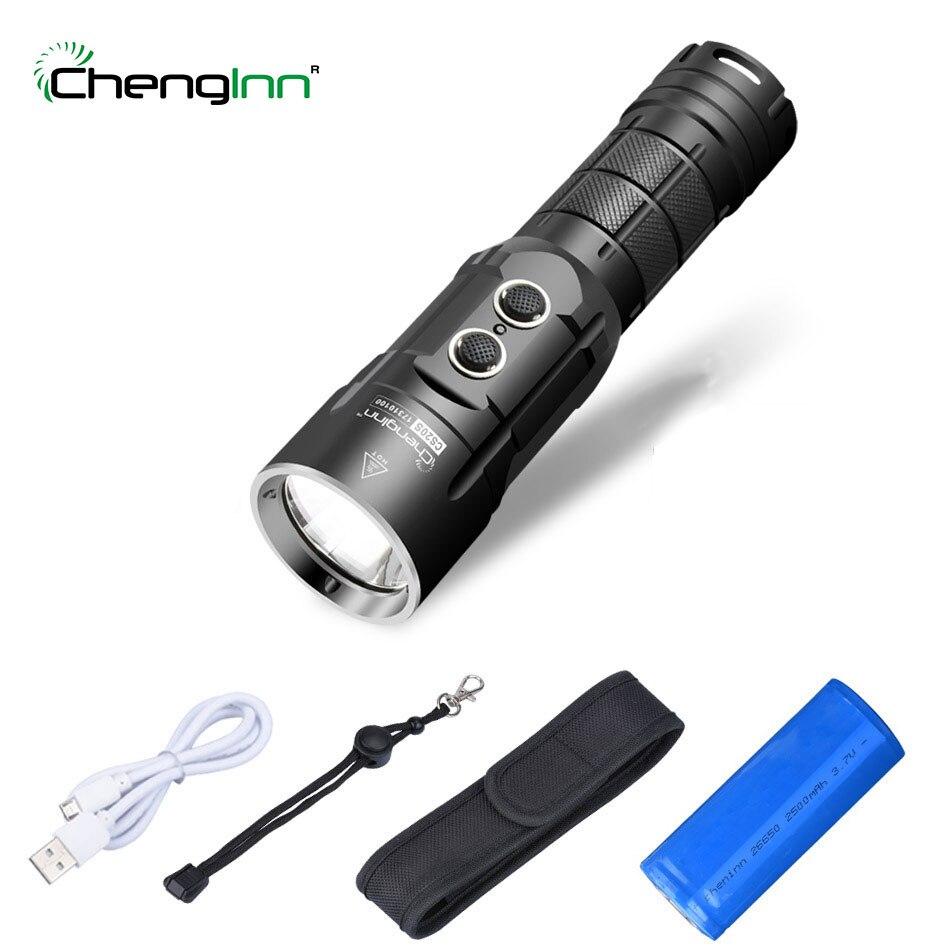 Feux de route usb Powerbank lampe de poche stroboscope SOS lanterne convoi lampe de poche LED rechargeable cree Xm-l t6 1000LM torche LED Chenglnn