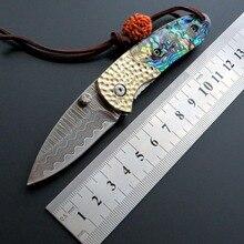 цена на Eafengrow EF29 Damascus Blade Steel + Shell Handle Folding knife Survival Camping tool Hunting Pocket Knife tactical edc tool