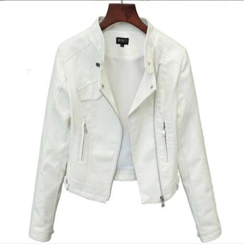 2019 Lika S-XXL New Spring Fashion Bright Colors Good Quality Ladies Basic Street Women Short PU Leather Jacket FREE Accessories
