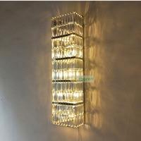 Высокая стены прихожей бра Современный Большой Кристалл Бра 110 240 V Новинка E14 светодио дный лампы ручной вязки Профессиональный Освещение