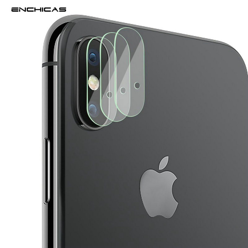 ENCHICAS 3 Pack Back Camera Lens Protector for iPhone X 2