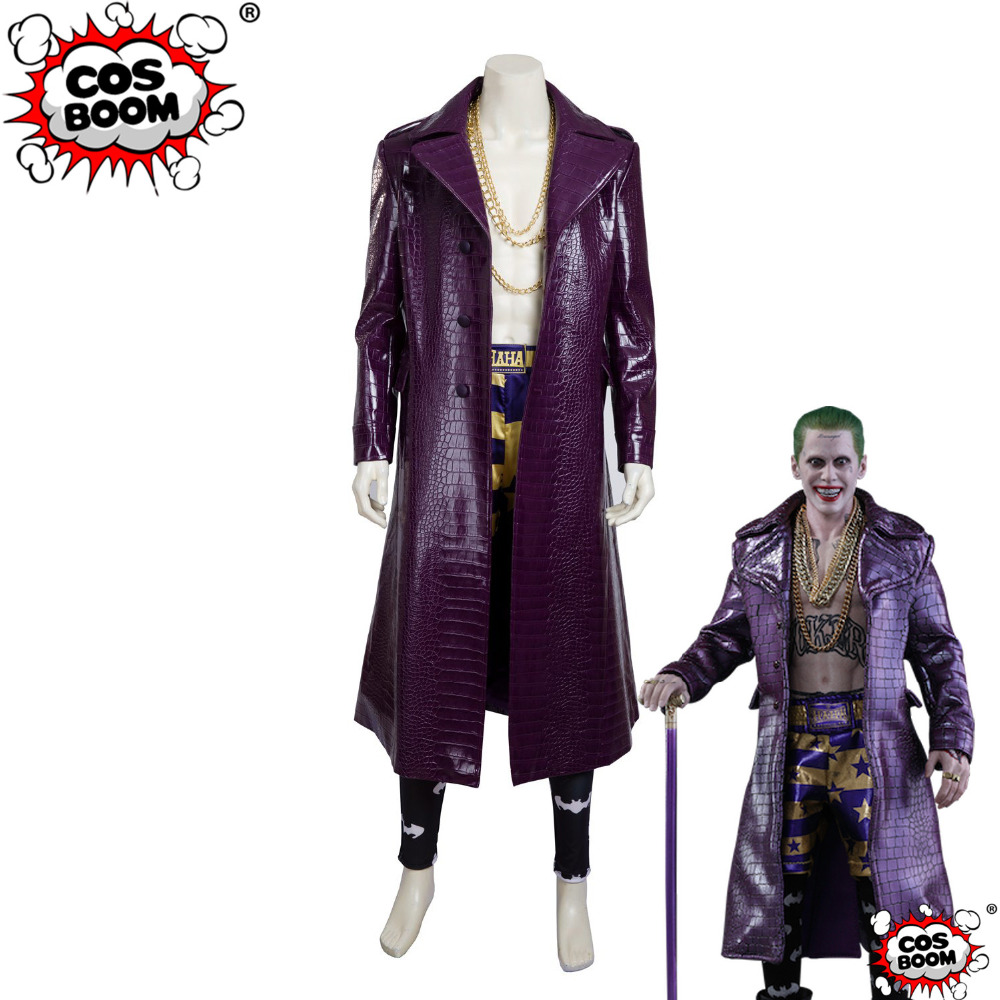 COSBOOM Suicide Squad Cosplay Joker Outfit Adult Halloween Carnival Suicide Squad Joker Cosplay Costume