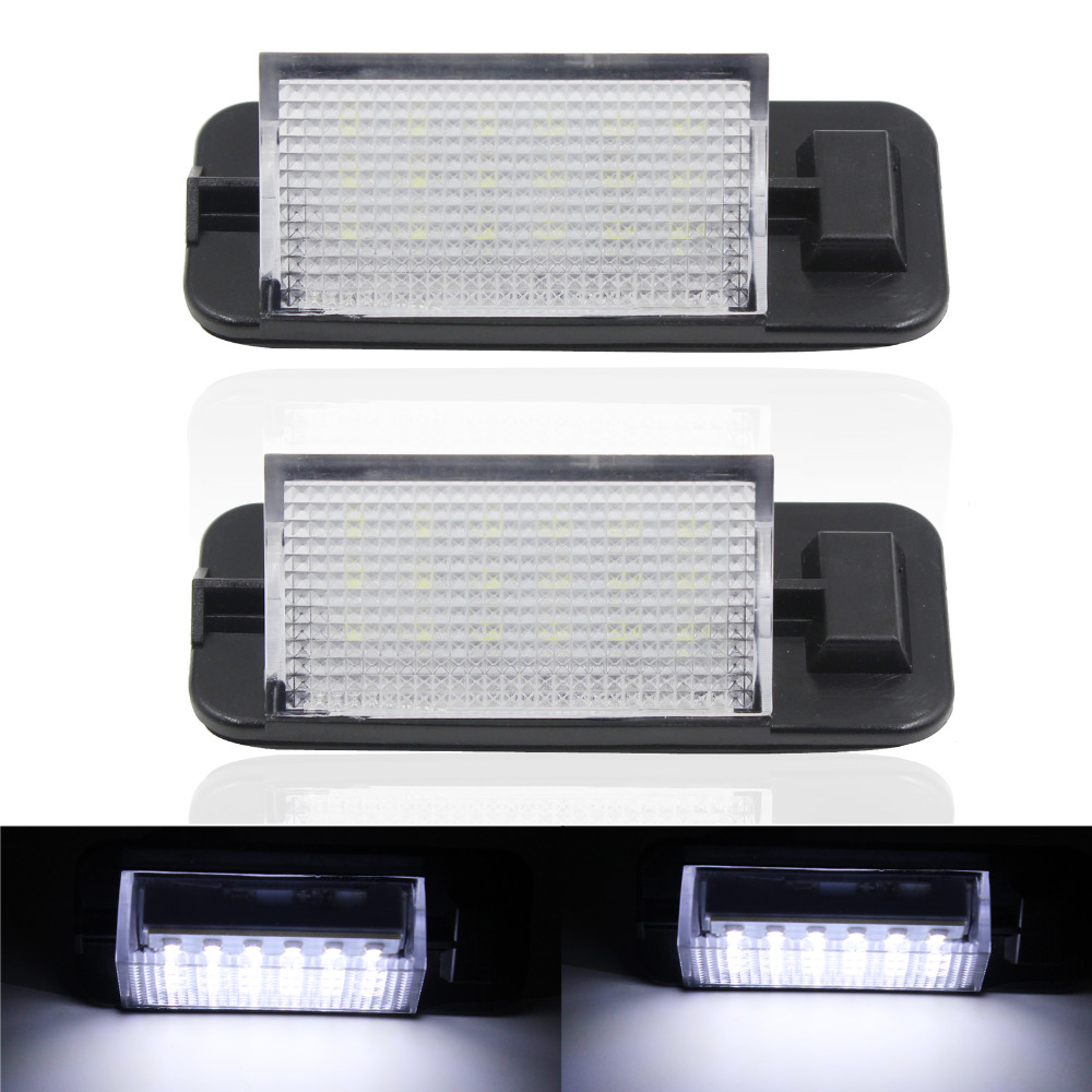 New Arrival 2x 18 LED 3528 SMD License Plate Light For BMW E36 ti 323i 325i 328i M3 318i Bright White Free Shipping for bmw 3 series e36 318 328 323 325 front coilover strut camber plate top mount green drift front domlager top upper mount