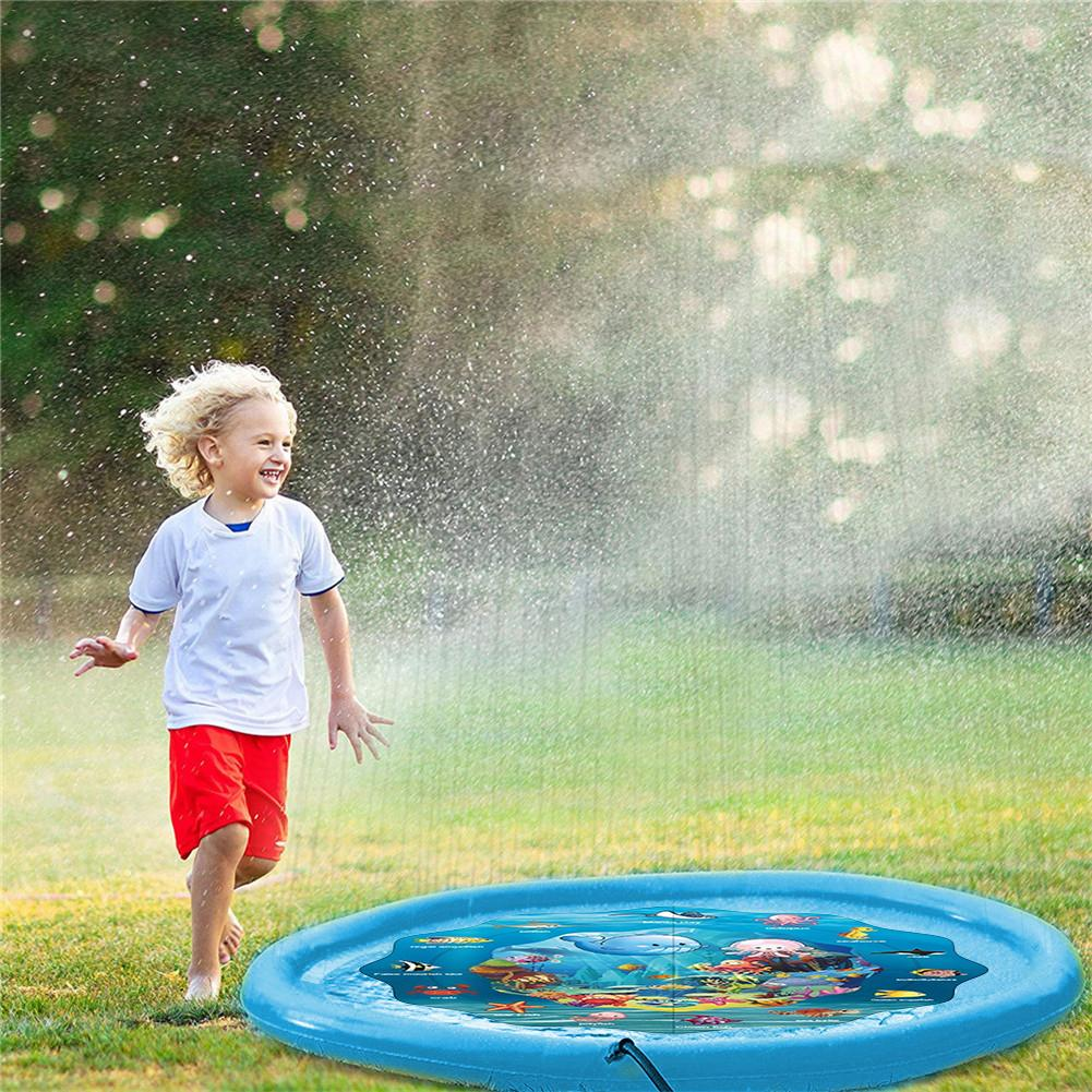 100/160CM Summer Children Baby Play Water Mat Games Beach Pad Lawn Inflatable Spray Water Cushion Toys Outdoor Tub Swiming Pool100/160CM Summer Children Baby Play Water Mat Games Beach Pad Lawn Inflatable Spray Water Cushion Toys Outdoor Tub Swiming Pool