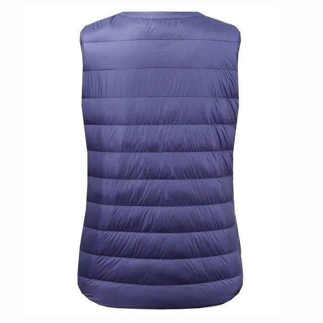 NewBang Brand 6XL 7XL Large Size Waistcoat Women's Warm Vest Ultra Light Down Vest Women Portable Sleeveless Winter Warm Liner 3