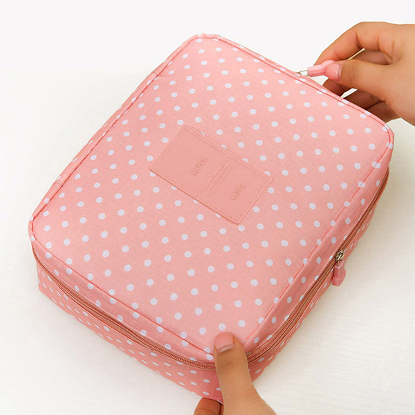 5e57bd5c2ae5 ... Women Makeup bag Cosmetic bag beauty Case Make Up Organizer Toiletry bag  kits Storage Travel Wash pouch. Previous