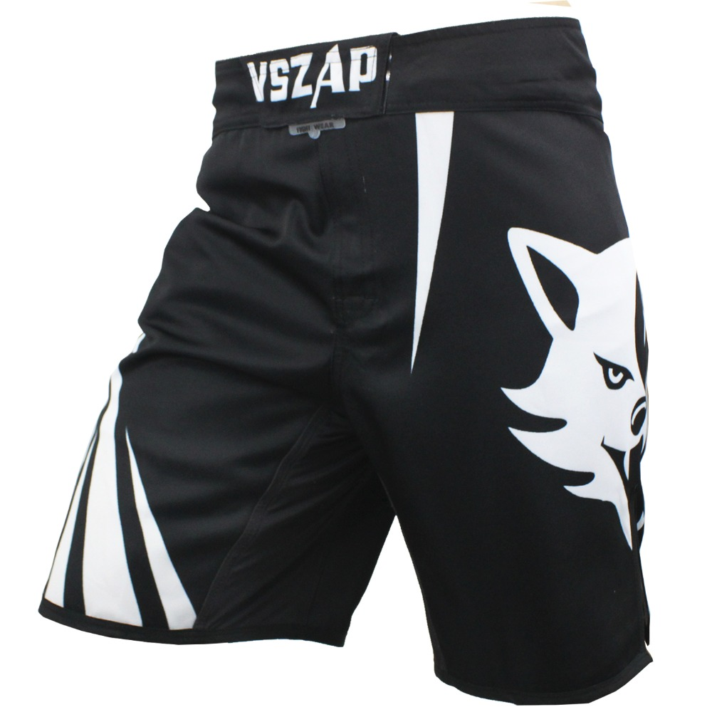 VSZAP Pantalon MMA Fight Boxing Shorts Motion Klær Bomull Løs Størrelse Trening Kickboxing Shorts Muay Thai Menn MMA Shorts