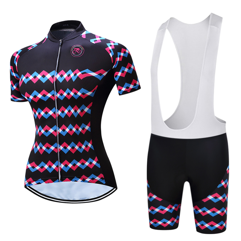 2018 TELEYI Cycling Jersey Shorts women bicycle Jersey Sets pro bicycle clothing Top short sleeve bicycle wear shirts