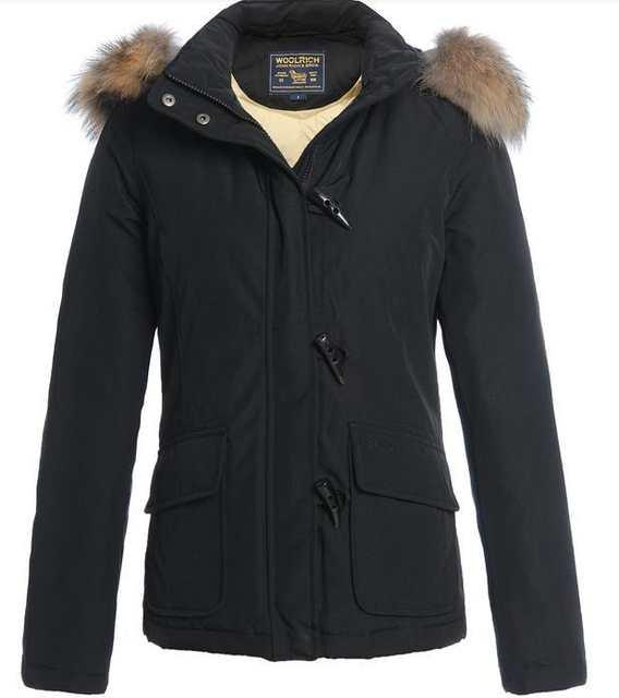 wholesale dealer 774f2 25fbe woolrich short parka blizzard woman puffer Jacket Imitate horn buckles  women 100% down coat top quality on sale!!!