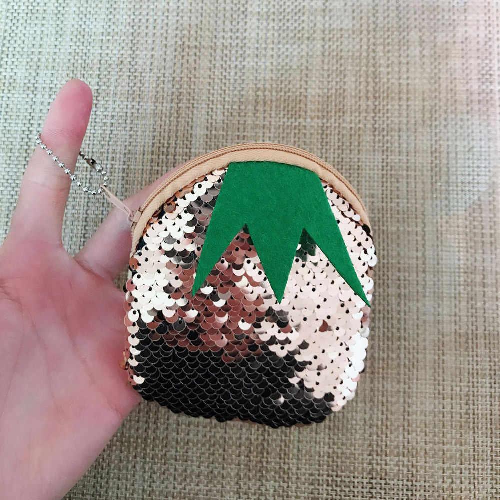 Bolsa da moeda das mulheres homens Unisex Meninas Moda Duplo Cor brilhante Lantejoulas Bolsa Das Senhoras Bolsa venda quente Carteira