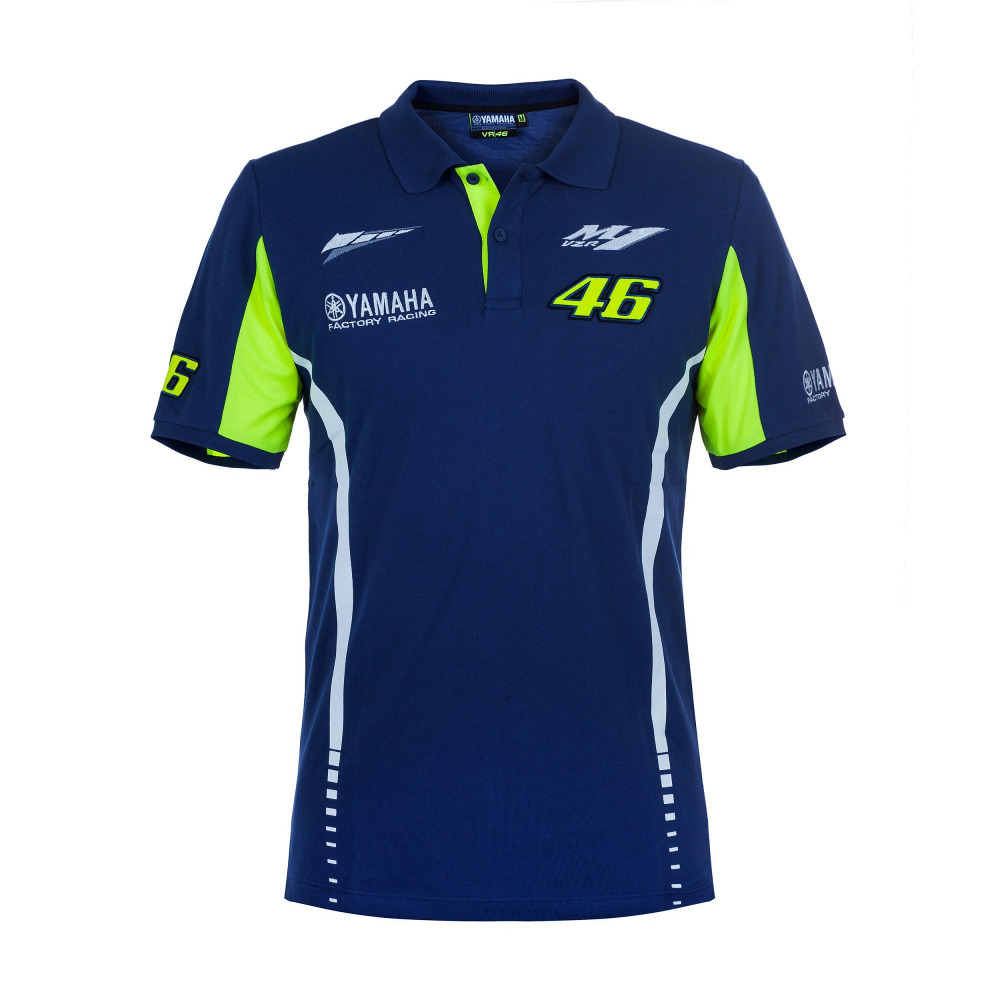 2017 Valentino Rossi Moto GP VR46 Polo Shirt for Yamaha Team 46 MENS The Doctor Blue T shirt