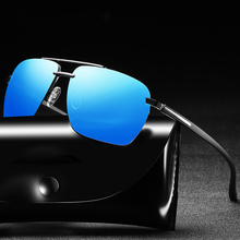 Summer HD Polarized Men Fashion Copper Sunglasses Classic Brand Driving Sun Glasses Metal Frame Rimless Oval