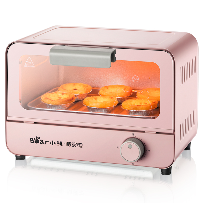 Small Electric Oven Toaster Pizza Cake Household Multifunction Fully Automatic One button Operation Visual Window Rapid