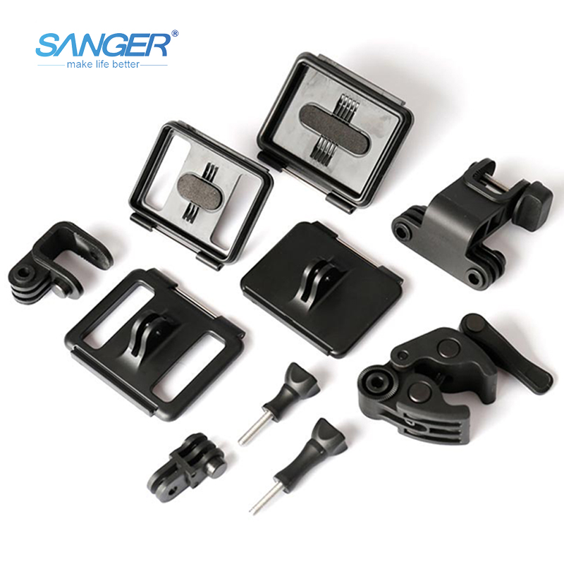 SANGER for Gopro Accessories Universal Gun Fishing Rod Bow Archery Rifle Barrel Fixing Clamp Mount Clip