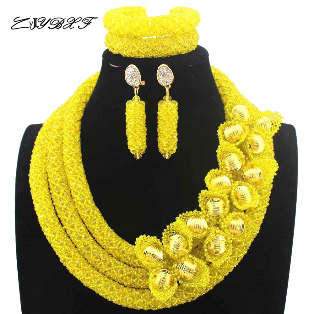 New Christmas Yellow Flower African Costume Jewelry Sets Nigerian Wedding Beads Bridal Necklaces Earrings Free Shipping L1022New Christmas Yellow Flower African Costume Jewelry Sets Nigerian Wedding Beads Bridal Necklaces Earrings Free Shipping L1022