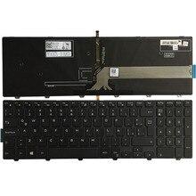 اللاتينية لوحة المفاتيح لابتوب ديل انسبايرون 15 5000 سلسلة 5551 5552 5555 5557 5558 5559 5542 5543 5545 5547 5548 3559 مع الخلفية