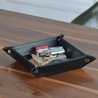 Creative leather storage tray storage box key storage box European fashion home furnishings Decoration