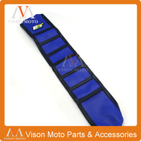 Ribbed Blue Gripper Soft Seat Cover For Husqvarna TE FE TC FE 14 16 Motorcycle Dirt