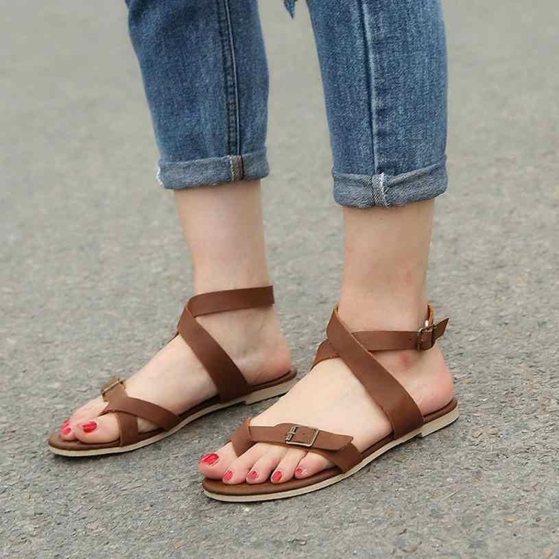31e188151933 MUQGEW Women Sandals Gladiator Casual Lace Up Flat Sandals Fashion Rome Tie  up Sandals Platform Summer