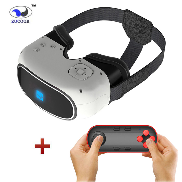 US $176 21 |2016 Google cardboard 3D Movie Games Glasses VR BOX Android 5 1  Virtual Reality Quad Core Smart WIFI Bluetooth Remote Controller-in 3D