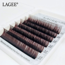 Get more info on the GLAMLASH Premium Natural Starts Brown Color Eyelash Extensions Individual Faux Mink Soft Fake False Rainbow Lashes Makeup cilios