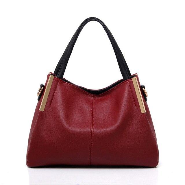 online para la venta mejor coleccion boutique de salida € 32.7 |Nuevo diseñador de la Marca Mujeres de Hombro Del Bolso Rojo Bolsos  Mujer PU Bolsa de Cuero en Bolsas de hombro de Bolsos y maletas en ...