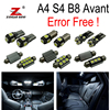18pc Excellent Canbus Error Free For Audi A4 S4 B8 Avant LED Interior Dome Light Kit
