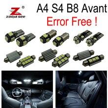 20pcs Error Free for Audi A4 S4 B8 Quattro Avant Wagon LED bulb Interior dome Light