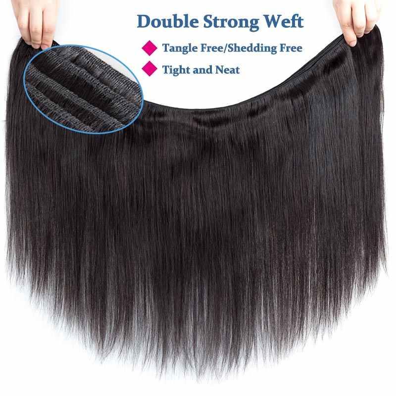 Реми Синий, прямой волос 4 Связки перуанский человеческих волос Weave Связки Natural Цвет 10-26 дюйм(ов) Волосы Remy расширения толстый конец