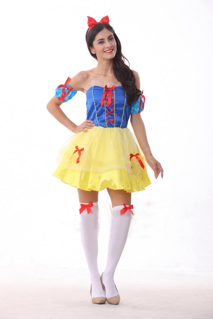 Cinderella Snow White Princess Fairy Tale Costumes For Women Sexy Fancy Halloween Beauty Cosplay Costume-In Game Costumes From Novelty  Special -9022