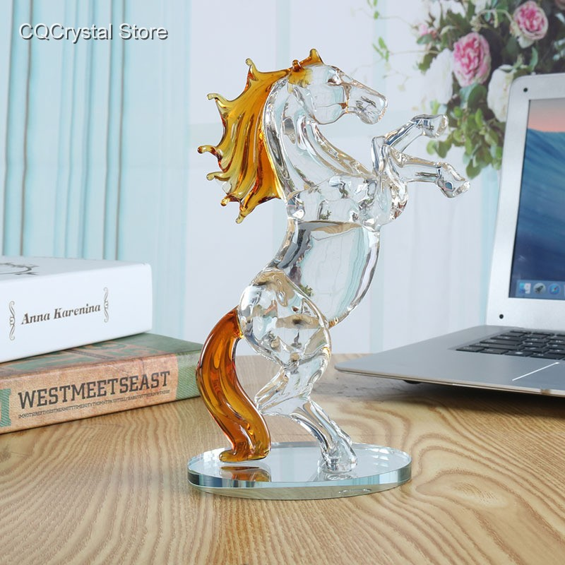 animal:  Crystal Glass Horse Figurine Collection Horse Animal Paperweight Table Ornament Decor Kids Birthday Gifts Home Wedding Decor - Martin's & Co