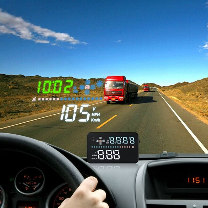 Universal for All Car Speed Projector on the Windshield A3 OBD2 Head Up  Display Auto HUD Digital Car Speedometer Accessories