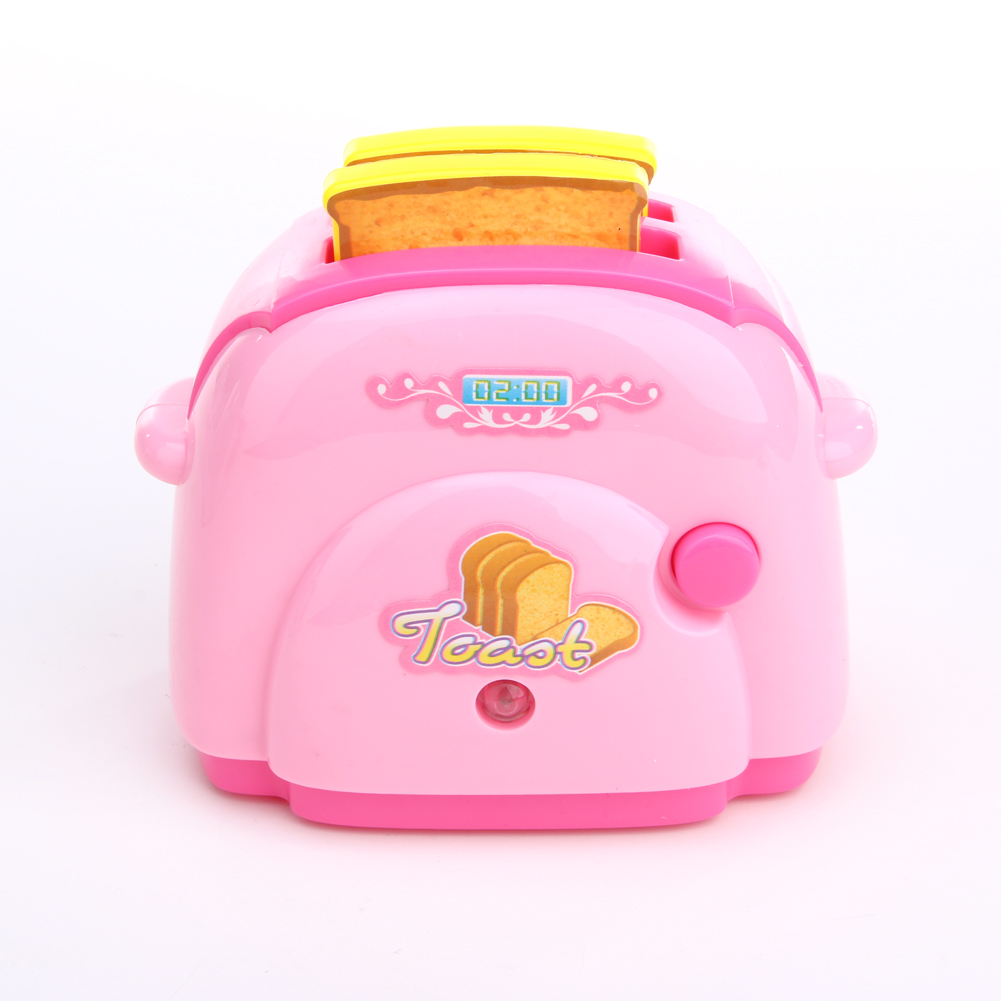 2017 Baby Kitchen Toys Mini Toaster with Light Classic Toys Pretend Play Kitchen Toys for Children Kids Boys Pink Kitchen Toy