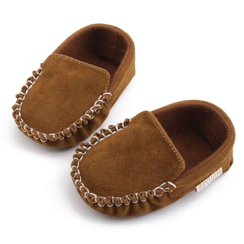 Newborn Baby Boy Girl Shoes First Walkers Baby Moccasin Shoes PU Suede Leather Prewalkers For Kids Crib Shoes