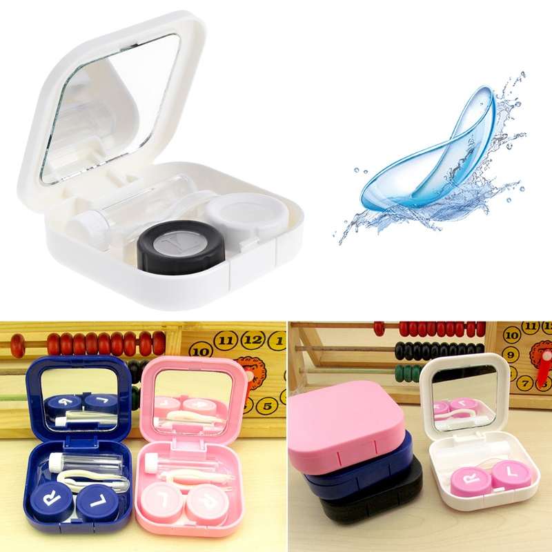 1 set Contact Lens Case Eyes Care Kit Holder Container Gift Travel Portable Accessaries