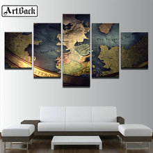 Full Square drill 5D DIY Diamond embroidery Game Of Thrones map Diamond Painting Cross Stitch Rhinestone Mosaic wall decor 5pcs fullcang 5pcs color world map diamond painting mosaic cross stitch diy 5d diamond embroidery full square rhinestone g649