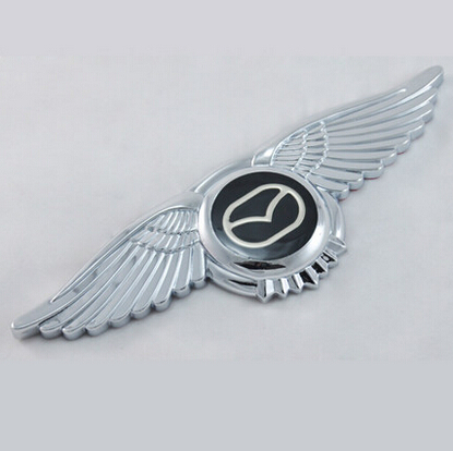 Auto Car 3d Wing For Mazda Luxury Badge Car 3d Eagle Sleeping Front