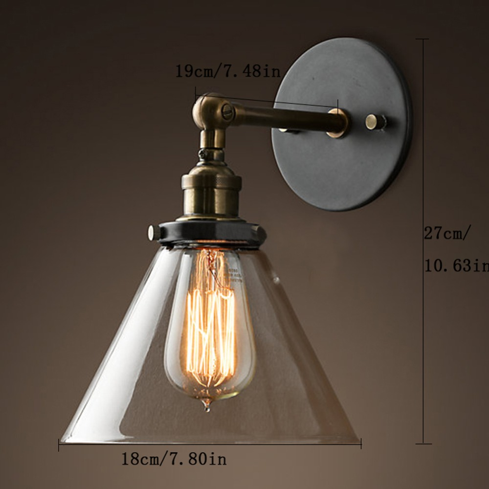 Bedside lamps wall mounted - Retro Edison Wall Lamp Vintage Wall Light Bedroom Industrial Wall Sconce Home Bathroom Lighting Wall Reading
