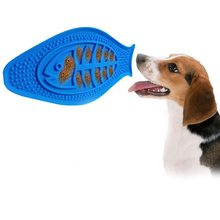 Colorful Pet Bath Fixed Suction Cup Bowl Silica Gel Food Feeder Dog Fish Shaped Cat Eating Bowls Pet Supplies 1PCS(China)
